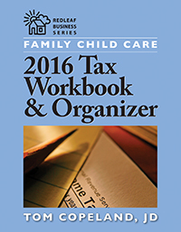 Family Child Care 2016 Tax Workbook & Organizer