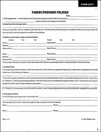 Parent/Provider Policies (5-pack) forms only