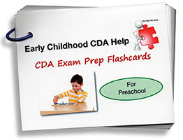 CDA Exam Prep Flashcards - Preschool