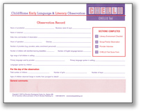 Child/Home Early Language & Literacy Observation Tool