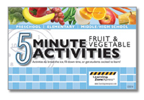 5 Minute Fruit and Vegetable Activities: Activities to break the ice, fill down time, or get students excited to learn!