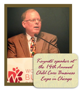 Tom Copeland speaking at the 14th Annual Child Care Business Expo